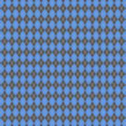Argyle Diamond With Crisscross Lines In Pewter Gray T18-p0126 Art Print