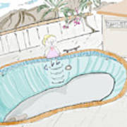 Arial Skates Pools Art Print