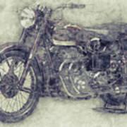 Ariel Square Four 1 - 1931 - Vintage Motorcycle Poster - Automotive Art Art Print