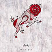 Aries Artwork Art Print