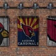 Arizona Cardinals Brick Wall Art Print