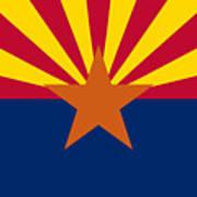 Arizona Flag Art Art Print