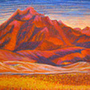 Arizona Mountains At Sunset Art Print