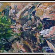Arizona River Mountains Art Print