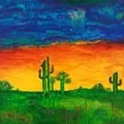 Arizona Rain Art Print