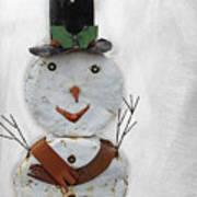 Arizona Snowman Art Print