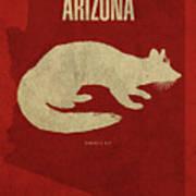 Arizona State Facts Minimalist Movie Poster Art Art Print