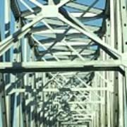 Arkansas Side Of Helena Bridge 1 Art Print
