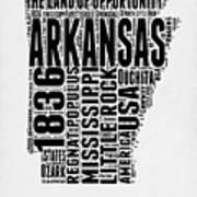 Arkansas Word Cloud 2 Art Print