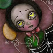 Arlequin Clown Girl Art Print