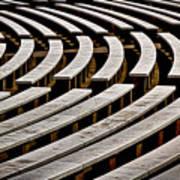 Arlington Cemetery Amphitheater Benches #2 Art Print