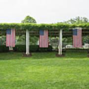 Arlington Flags Art Print