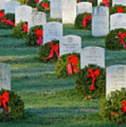 Arlington National Cemetery At Christmas Art Print