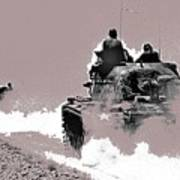 Army Reservists Summer Camp Tanks Death Valley California 1968-2016 Art Print