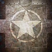 Army Star On Steel Art Print