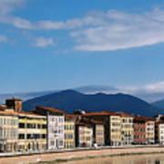 Arno River Pisa Italy Art Print