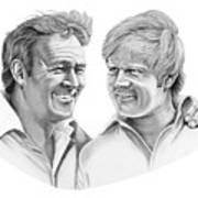 Arnold Palmer-jack Nicklaus Art Print by Murphy Elliott