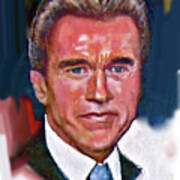 Arnold Schwarzenegger Print by Dean Gleisberg