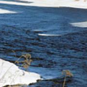 Aroostook River Below The Dam Art Print