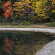 Around The Bend- Hiking Walden Pond In Autumn Art Print