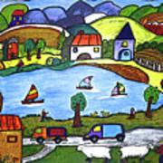 Around The Lake Art Print