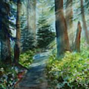 Around The Path Print by Kerri Ligatich