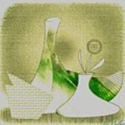 Arrangement In Green And Yellow Art Print
