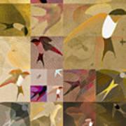 Arraygraphy - Birdies Sepia, Part 1 Art Print