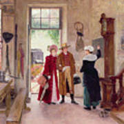 Arrival At The Inn Art Print by Charles Edouard Delort