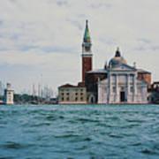 Arriving In Venice Art Print