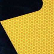 Arrow On Yellow Art Print
