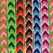 Arrow Pattern Woven Bracelets Art Print