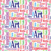 Art And Inspiration Pattern Art Print