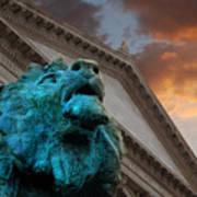 Art And Lions Art Print