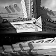 Art Deco Movie Theatre And Chevrolet Belair Art Print