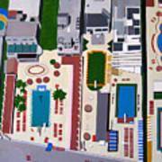Art Deco Pools Art Print