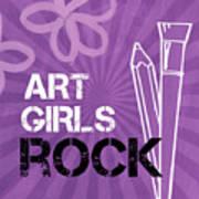 Art Girls Rock Print by Linda Woods