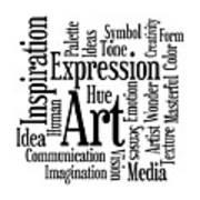 Art Inspiration Creativity Art Print