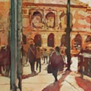 Art Institute Reflected Art Print