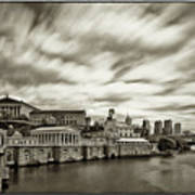 Art Museum Time Exposer Art Print by Jack Paolini