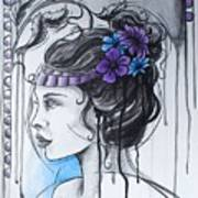 Art Nouveau Girl 1 Art Print