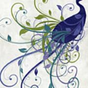 Art Nouveau Peacock I Art Print