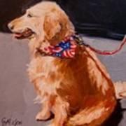 Art Show Dog 2 Art Print