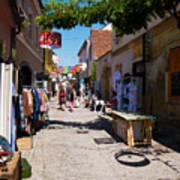 Art Street In Varazdin Art Print