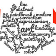 Art Word Cloud 1 Art Print