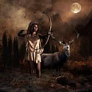 Artemis Goddess Of The Hunt Art Print