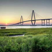 Arthur Ravenel Bridge Sunset Art Print