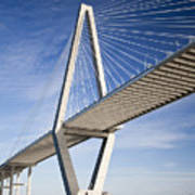 Arthur Ravenel Jr. Bridge In Charleston South Carolina Art Print