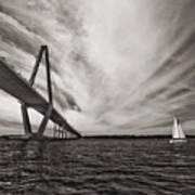Arthur Ravenel Jr. Bridge Over The Cooper River Art Print