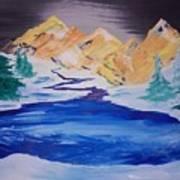 Artic Lake Art Print